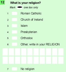 Census IRL 2016 Q12 Religion