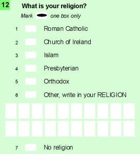 Census IRL 2016 Q12 Religion